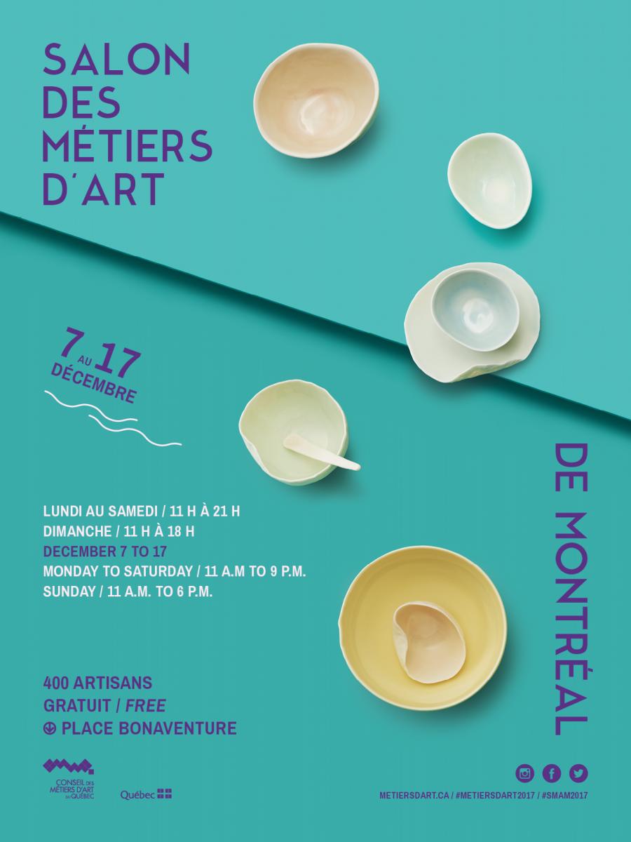 Salon des m tiers d art de montr al kiosque 239 sous for Salon metier d art montreal